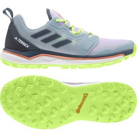 adidas TERREX Agravic Zapatillas Trail Running Mujer, purple tint/legacy blue/signal green